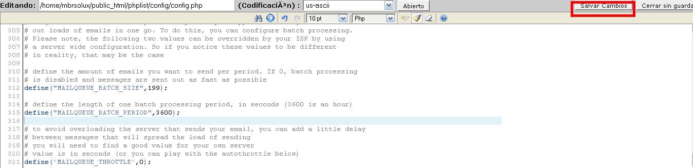 Configura tu PHPLIST para no enviar mas de 200 mails x hora - Info ...